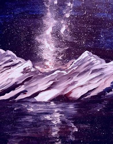 A Snowy Galaxy paint nite project by Yaymaker