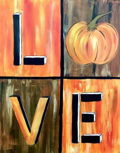 A Love Fall paint nite project by Yaymaker