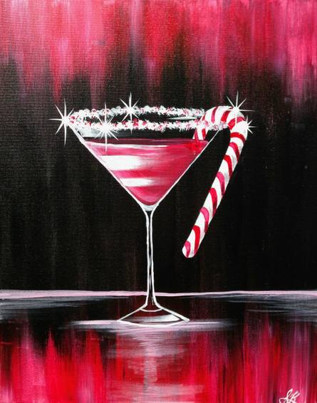 A Christmas Cosmo paint nite project by Yaymaker