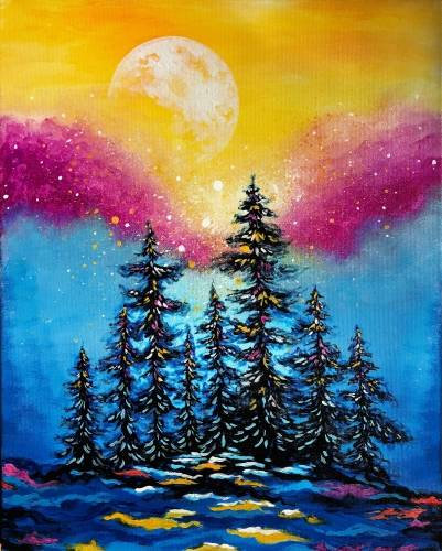 A Moonrise Sparkle paint nite project by Yaymaker