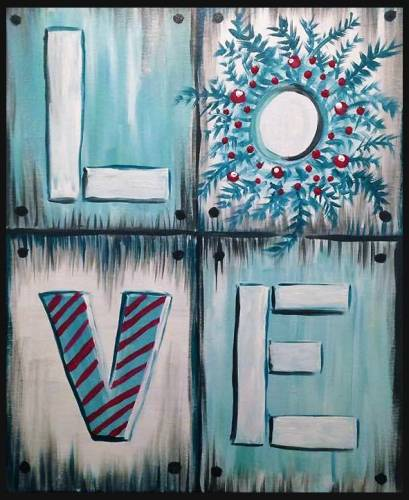 A LOVE XMAS paint nite project by Yaymaker