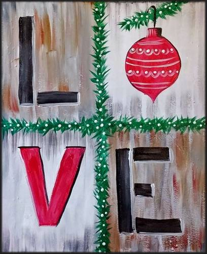A LOVE XMAS II paint nite project by Yaymaker