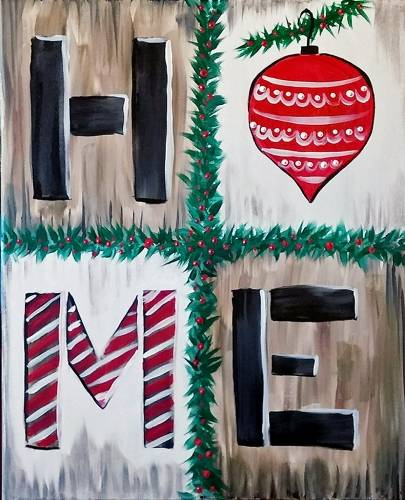 A HOME XMAS paint nite project by Yaymaker