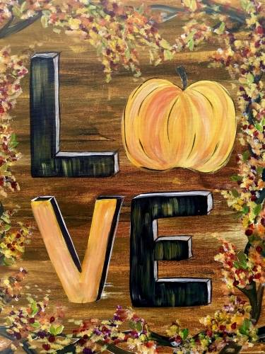 A Love Fall II paint nite project by Yaymaker