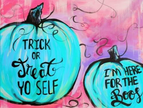 A Gourdgeous Pumpkins paint nite project by Yaymaker