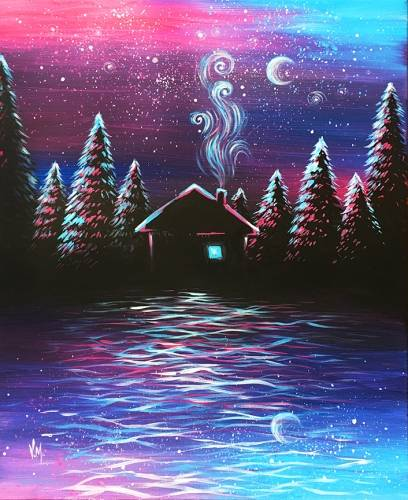 A Mystical Night by the Lake paint nite project by Yaymaker