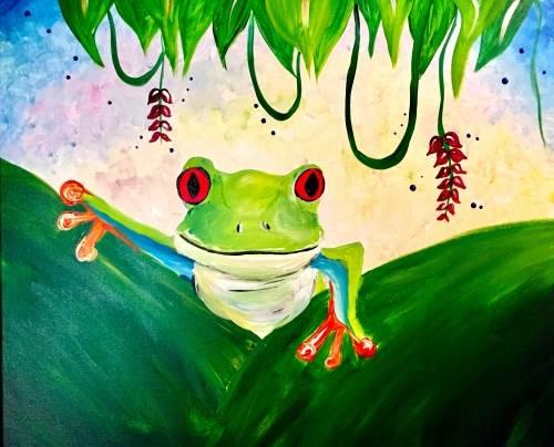 A Jungle Frog paint nite project by Yaymaker