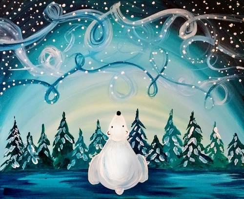 A Windy Winter Sky paint nite project by Yaymaker