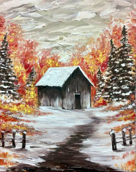 A Colors by the Cabin paint nite project by Yaymaker