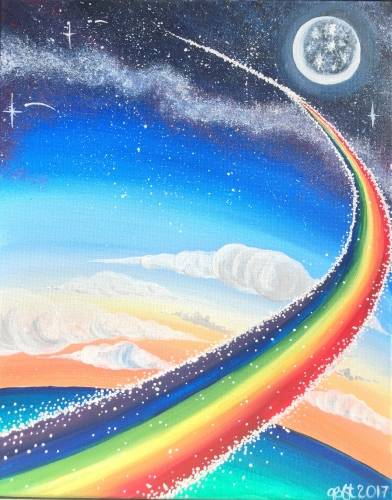 A Rainbow Road II paint nite project by Yaymaker