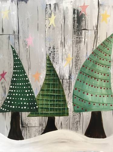 A Oh Christmas Tree II paint nite project by Yaymaker