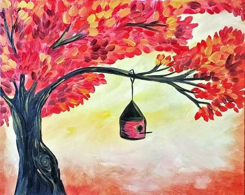 A Under the Red Maple paint nite project by Yaymaker