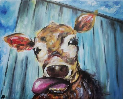 A Abstract Cow II paint nite project by Yaymaker