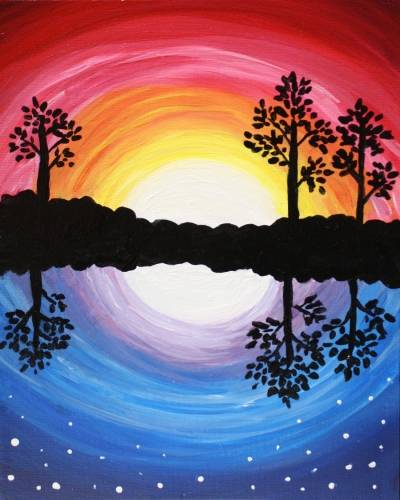 A Night and Day Day and Night paint nite project by Yaymaker