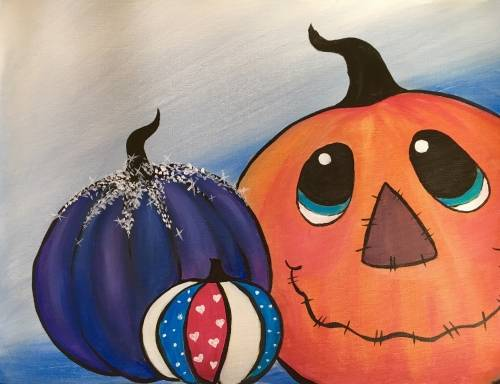 A The Misfit Pumpkins paint nite project by Yaymaker