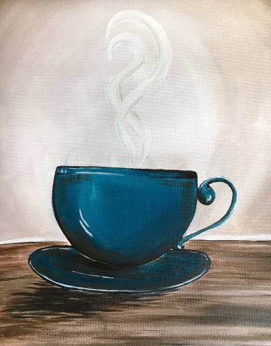 A First things First Coffee paint nite project by Yaymaker