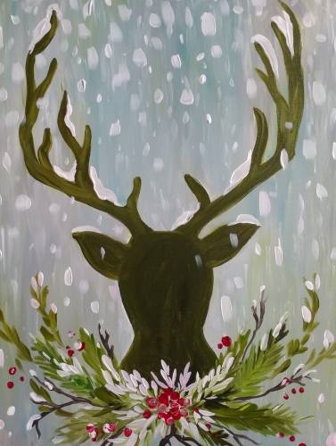 A Dear Holiday Deer paint nite project by Yaymaker