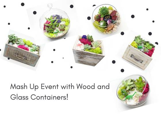 A Wood and Glass Container Mash Up plant nite project by Yaymaker