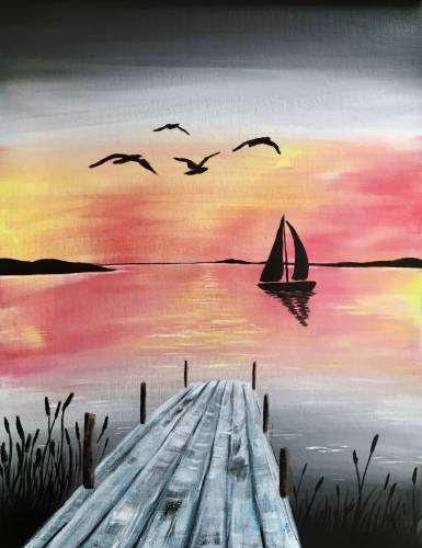 A Sunset Sailing III paint nite project by Yaymaker