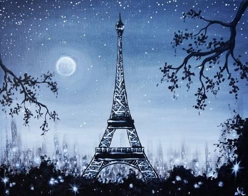 A Paris En Noir II paint nite project by Yaymaker