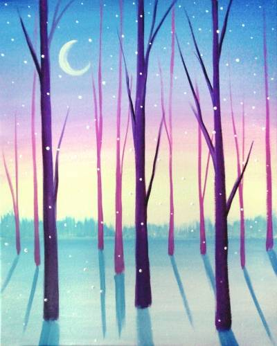 A Winter Hues paint nite project by Yaymaker