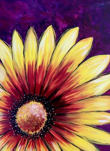A Sunflower Burst II paint nite project by Yaymaker