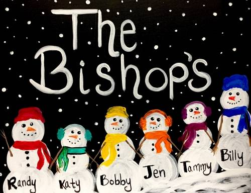 A Snow Family Personalized paint nite project by Yaymaker