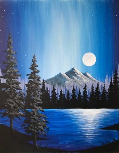A Moonlit Majesty paint nite project by Yaymaker