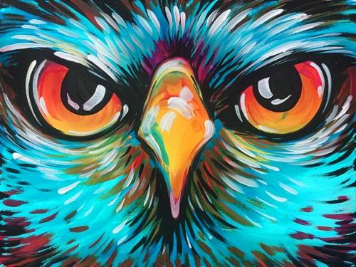 A Owl Be There paint nite project by Yaymaker