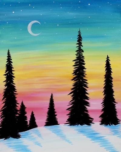 A Bright Winter Sky paint nite project by Yaymaker