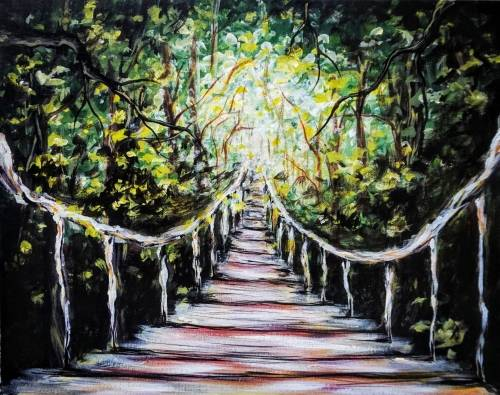 A The Hanging Bridge paint nite project by Yaymaker