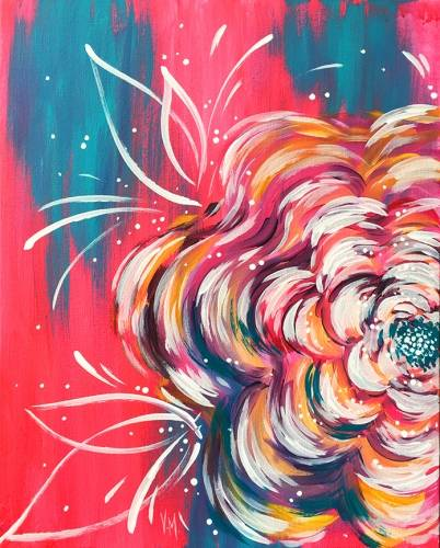 A One Bright Flower paint nite project by Yaymaker