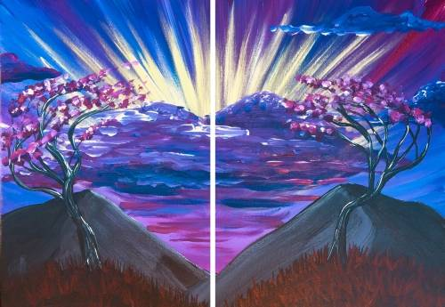 A Heart of the Mountain Partner Painting paint nite project by Yaymaker