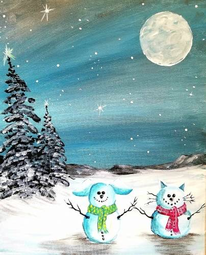A My Snowbabies paint nite project by Yaymaker