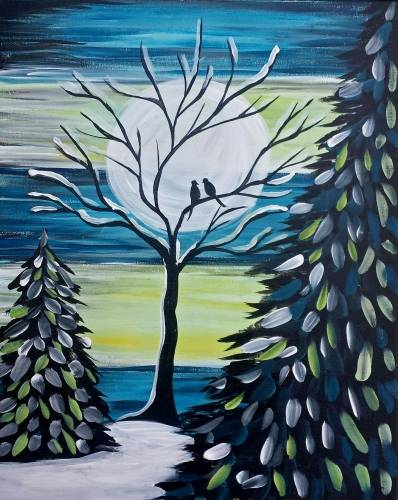 A Spending Winter Together paint nite project by Yaymaker