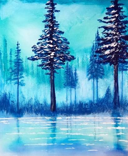 A Frosted Forest paint nite project by Yaymaker