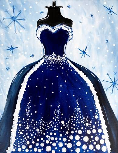 A Snowball Couture paint nite project by Yaymaker