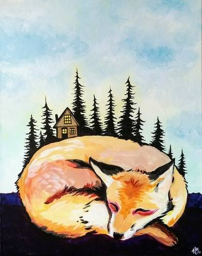 A Foxy Cabin paint nite project by Yaymaker