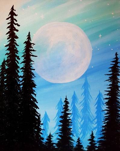 A Twilight in the Pines paint nite project by Yaymaker