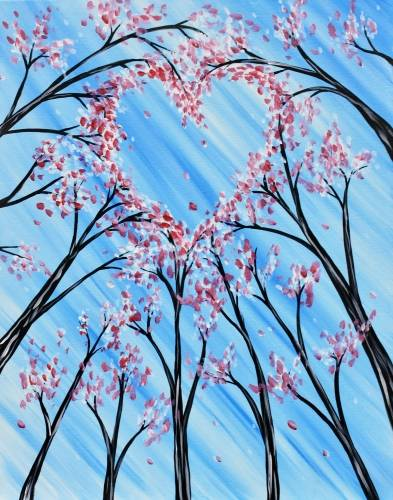 A Lovely Blossoms paint nite project by Yaymaker