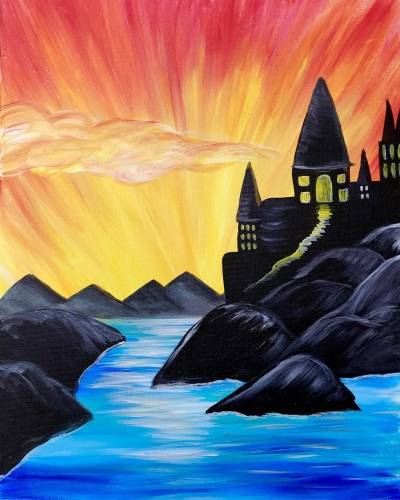 A A School For Wizards paint nite project by Yaymaker