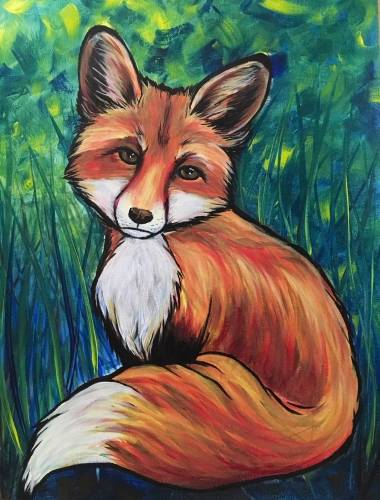 A Little Red Fox paint nite project by Yaymaker