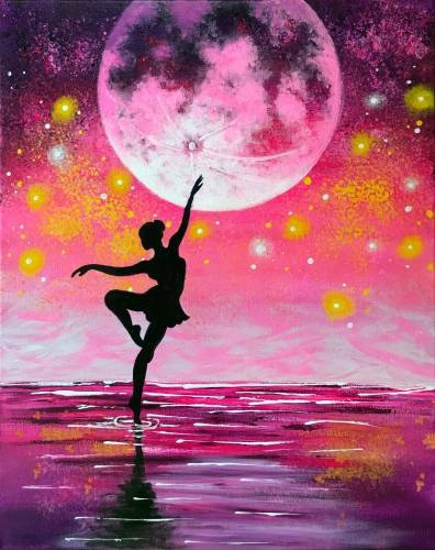 A Dancing Under Moonlight paint nite project by Yaymaker