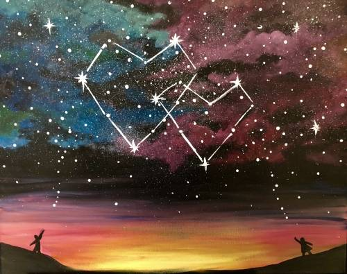 A Written in the Stars paint nite project by Yaymaker