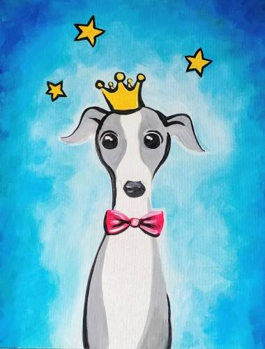 A Little Prince Greyhound paint nite project by Yaymaker
