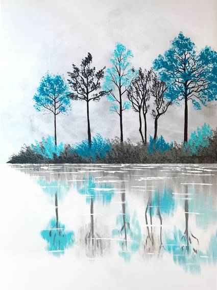 A Lake Of Reflection paint nite project by Yaymaker
