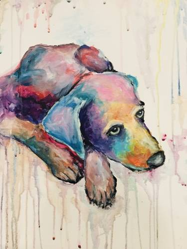 A Custom Splash  Paint Your Pet paint nite project by Yaymaker