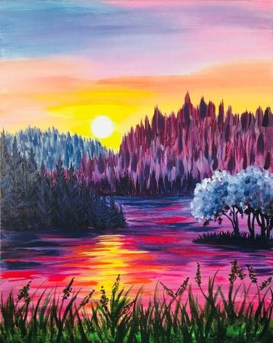 A Rose Waters paint nite project by Yaymaker