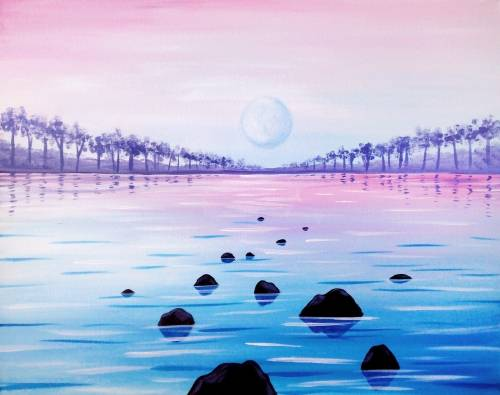 A Pastel Paradise paint nite project by Yaymaker