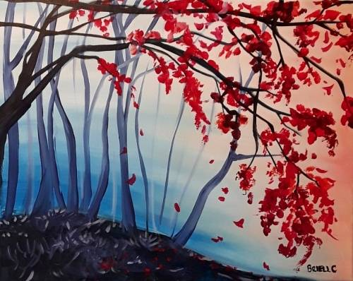 A A Velvet Forest paint nite project by Yaymaker